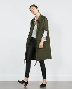ZARA - COLLECTION AW15 - PARKA WITH ROLL UP SLEEVES