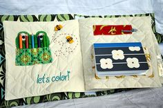 Crayon and paper quiet book page