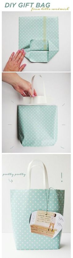 DIY gift bag..must remember when I run out of bags!!! Happens every year.