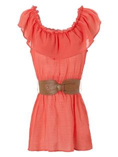 coral gypsy belted top  www.janenorman.co.uk