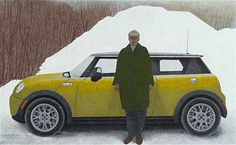 Artist and Car, 2008 by Alex Colville on Curiator, the world's biggest collaborative art collection. Canadian Culture, Canadian Army, Alex Colville, Canadian Painters, Canadian Artists, Car Painting, Artist Painting, Figure Painting, Christopher Pratt