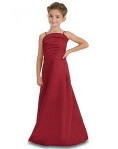 New Style A-Line/Princess Floor-Length Satin Junior Bridesmaid Dress with Ruffle Beading (009000704)