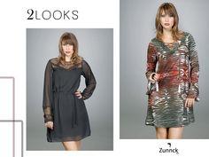 Dois para escolher! Vestido preto básico e elegante ou vestido estampado cheio de atitude! :D