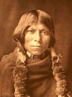 "Okuwa-tse (""Cloud Yellow""). San Ildefonso pueblo. New Mexico. 1927. Photo by Edward S. Curtis. Source - Northwestern University Library."