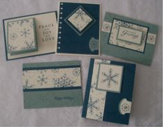 Stampin' Up!, Card Making, One Sheet Wonder Technique, Christmas Cards