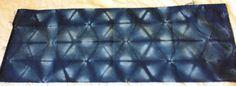 Concertina folded and stitch resist shibori - indigo dyed December 2014