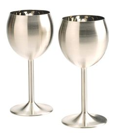 Another great find on #zulily! Stainless Steel Wineglass - Set of Two #zulilyfinds