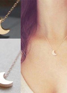 Kaufe meinen Artikel bei #Kleiderkreisel http://www.kleiderkreisel.de/accessoires/ketten-and-anhanger/149404251-halbmond-sichel-kette-halskette-in-gold-bloggerkette