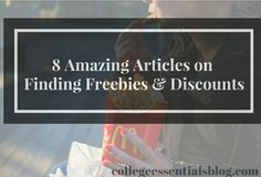 8 Amazing Articles on Finding Freebies and Discounts - Find places to get free samples, products and food.