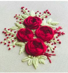 Hand Embroidery Patterns Flowers, Hand Embroidery Videos, Embroidery Stitches Tutorial, Hand Work Embroidery, Embroidery Flowers Pattern, Flower Embroidery Designs, Creative Embroidery, Embroidery Motifs, Simple Embroidery