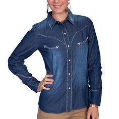 Scully Women's Long Sleeve Western Shirt