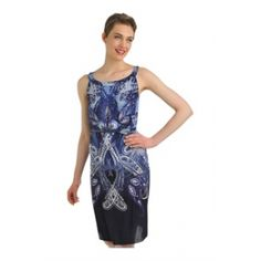 This flirty frock makes the transition from day to night. A gorgeous paisley print combines with a flattering halter silhouette. It also comes with a belt to cinch in the figure. #fashion #dress