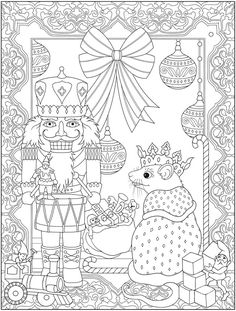 Welcome to Dover Publications - CH The Nutcracker Designs Coloring Pages For Grown Ups, Coloring Book Pages, Coloring For Kids, Nutcracker Image, Nutcracker Christmas, Christmas Activities, Christmas Crafts, Christmas Coloring Sheets, Colorful Drawings