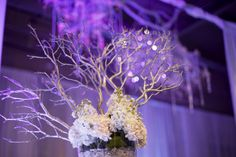 Beautiful winter wedding decor