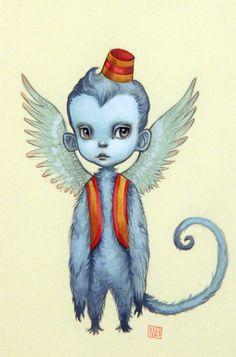 Mab Graves - Artwork - The Flying Monkey - Nucleus Ghibli, Flying Monkey, Lowbrow Art, Pop Surrealism, Wizard Of Oz, Unique Art, New Art, Fantasy Art, Cool Art