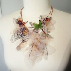 Fluttery Breath of Life Necklace by jewelera on Etsy