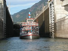 """Experience the wonder of the Columbia Gorge.    Cruise on the """"Historic Columbia River Scenic Waterway"""" on the Columbia Gorge Sternwheeler. Glide past such natural and historic landmarks as Multnomah Falls, Beacon Rock, Bonneville Locks and Dam, and many others - all from the best view on the Columbia."""