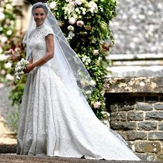 The bride wore a bespoke Giles Deacon dress, which was crafted to create the impression of being seamless. #weddings