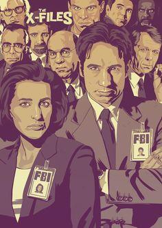 MOSHI-KUN X-Files Poster