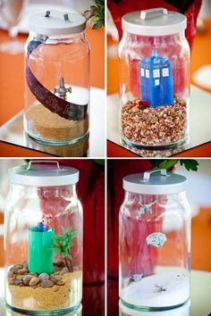 Go home all other centerpiece pins.  We're done here. Geeky terrarium centerpieces FTW!   Offbeat Bride