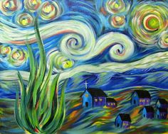 Hart Party Starry Night by Cinnamon Cooney for hARTpARTY on Etsy,