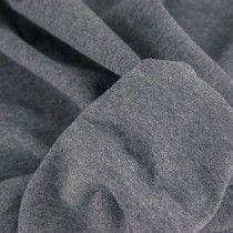 Mediumweight Melange Cotton Jersey - Dark Grey