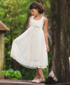 This Ivory Corrina Dress - Toddler & Girls is perfect! #zulilyfinds