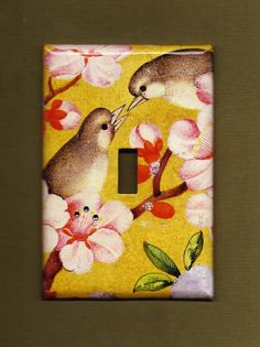 Love Birds Switchplate cover by TurnMeOnArt on Etsy