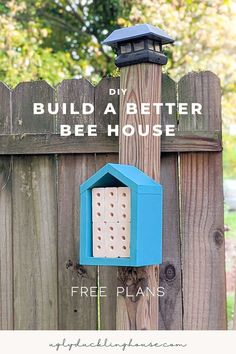 Cute! The bee hotels you can buy at the store are usually too big to really be useful. This post has tons of great info on how to make a better (and cheaper) DIY bee house from scrap wood and how to maintain them so that it helps the local bee population and pollenates your garden! #savethebees #beehotel #masonbees #beehouse #pestcontrol #beegarden #butterflygarden #backyardgarden #goingreen Diy Wood Projects, Outdoor Projects, Bee Hotels, Bee House, Garden Bugs, Backyard Farming, Wood Home Decor, Save The Bees, Home Design Plans