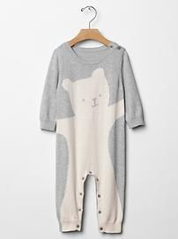 Animal sweater one-piece baby gap