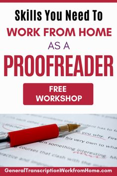 Do you want to get proofreading jobs from home? Sign up for this Free Proofreading Workshop to find out how to get started as a proofreader, learn proofreading skills you need to become an online proofreader, and get proofreading jobs from home. Start your proofreading hustle and make money online. Legit Work From Home, Work From Home Jobs, At Home Careers, Make Money Online, How To Make Money, Good Grammar, Virtual Assistant Jobs, Best Online Jobs, Freelance Writing Jobs