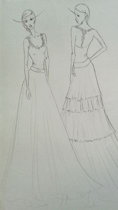 Fashion sketch by Molteno Creations Fashion Illustrations, Fashion Sketches, Dress Designs, Dream Dress, Drawing S, Sketching, Designer Dresses, Dreaming Of You, Gowns