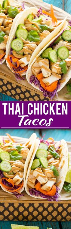 These thai chicken tacos are a quick and easy dinner. Coconut marinated chicken…