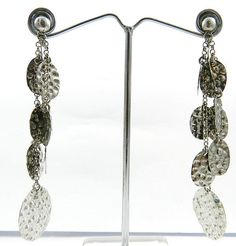 925 silver handmade nepali dangle chain design special nice earring pair jewelry #Magicalcollection #ChainLink
