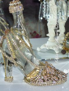 shoe perfume bottle - you could do this with that wine bottle!!