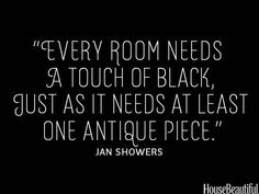"""Agree! """"something old & something new w/ a touch of black is timeless""""... my design chic blog"""