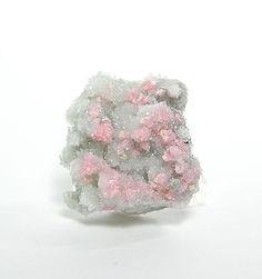Rose Pink Rhodochrosite Crystal Cluster on by FenderMinerals,