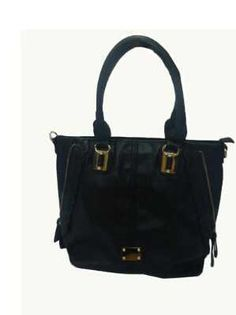 Mirac Black PU Ladies Shoulder Bag
