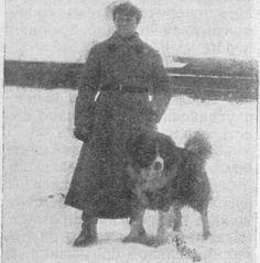"""Instructor del """"Ejército Rojo"""" con su perro 1930"""