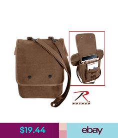 Rothco 5797 Earth Brown Military Style Heavyweight Canvas Map Case Shoulder  Bag ded7ae9c6f1