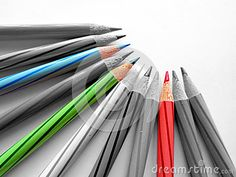 Color Pencils with Red, Green and Blue separated.