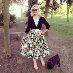 Taking the pugs out for a walk in Wezzer B park.  Skirt; handmade by me. #ootd #ootdsocialclub