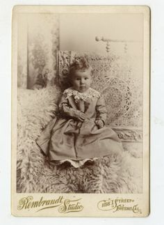 Cabinet Card Vintage Photo Beautiful Baby Fur Fresno California | eBay