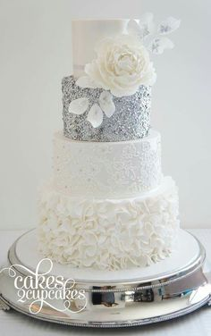 Wedding Ideas By Colour Silver Cakes