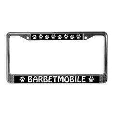 Barbetmobile License Plate Frame for Barbet Dog Lovers