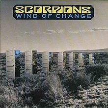"""""""Wind of Change"""" is a song written by Klaus Meine, vocalist of German rock band Scorpions.The song is currently the 10th best-selling single of all time in Germany.[1] Worldwide, the single has sold millions of copies, making it one of best selling singles of all time.[2] The Scorpions hold the record for the best-selling single by a German artist and band."""