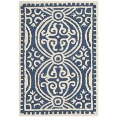 Safavieh Handmade Moroccan Cambridge Navy Blue Wool Rug | Overstock.com Shopping - The Best Deals on 7x9 - 10x14 Rugs