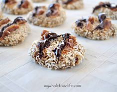 Gluten Free and Vegan Samoas.  Easy to make with cleaner ingredinets!