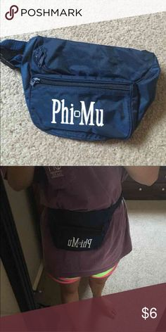 Phi Mu fanny pack Super cute for anything!! Holds quite a bit too! Bags Mini Bags