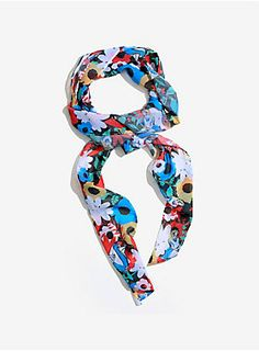 Do you suppose she's a wild flower?   Alice In Wonderland Floral Scarf